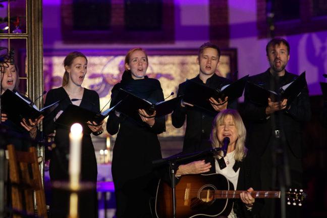 Anne Grete Preus (sang og gitar), Oslo kammerkor